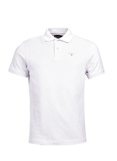 Barbour Sports Polo Yaka Wh11 White Beyaz